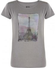 Dare2b 灰色のマーシャルTシャツの上のレディースタワー