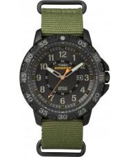 Timex TW4B03600 メンズ遠征ギャラティングリーンナイロンストラップウォッチ