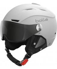 Bolle 21267 バックラインバイザーソフト白とシルバーのスキーヘルメット -  54〜56センチメートル