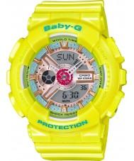 Casio BA-110CA-9AER レディースベビーGワールドタイム黄色樹脂ストラップ時計