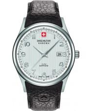 Swiss Military 6-4286-04-001 メンズnavalusブラウンレザーストラップの腕時計
