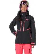 Picture WVT068-BLANP-XS レディースエクサ黒ネオンピンクのジャケット - サイズXS