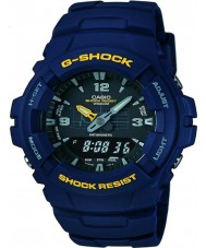 Casio G-100-2BVMUR メンズG-SHOCKの青色樹脂ストラップ時計