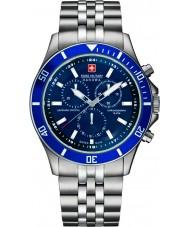 Swiss Military 6-5183-7-04-003 メンズ旗艦クロノシルバー時計