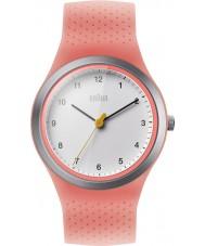 Braun BN0111WHPKL レディーススポーツネオン桃シリコーンストラップ時計