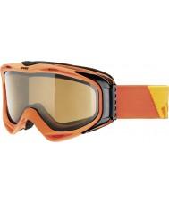 Uvex 5502143021 G.gl 300はオレンジ色を脱ぐ -  polavision茶色のスキーゴーグルを