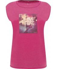 Dare2b DWT327-1Z016L レディース安らかな電気ピンクのTシャツ - サイズUK 16(XL)