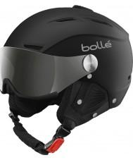 Bolle 31156 銀銃とレモンバイザー付きバックラインバイザーソフトブラックとシルバーのスキーヘルメット -  59〜61センチメートル