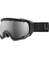 Uvex 5504322026 Jakk球状黒 - 黒ミラースキー用ゴーグル
