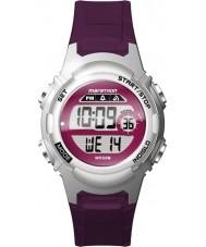 Timex TW5M11100 レディースマラソン紫色の樹脂ストラップ時計