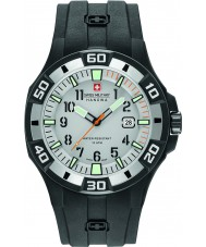 Swiss Military 6-4292-27-009-07 メンズバミューダ黒いシリコーンストラップ時計