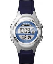 Timex TW5M11200 女子マラソンの青色樹脂ストラップ時計