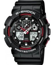 Casio GA-100-1A4ER メンズG-SHOCKのオートライトブラック腕時計を導きました