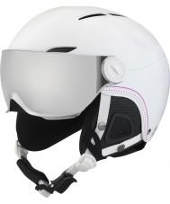 Bolle 31159 ジュリエットは銀銃とレモンバイザーと柔らかな白いスキーヘルメットバイザー -  52〜54センチメートル