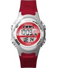 Timex TW5M11300 レディースマラソン赤い樹脂ストラップ時計