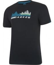 Dare2b Mens都市のシーン黒のTシャツ