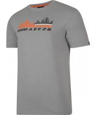 Dare2b DMT145-81I90-XXL メンズ街のシーンアッシュグレーマールTシャツ - サイズXXL