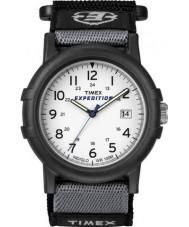Timex T49713 メンズ白黒キャンピングカー遠征時計