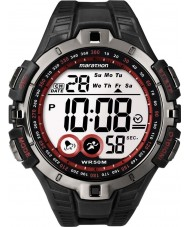 Timex T5K423 メンズ赤黒マラソンスポーツ時計