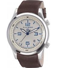 Elliot Brown 202-001-L09 メンズブラウンレザーストラップの腕時計をcanford