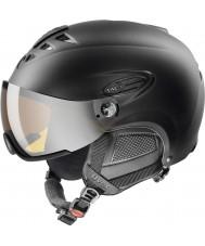 Uvex 5661622205 lasergoldバイザーとHLMT 300黒いスキーヘルメット -  55〜58センチメートル