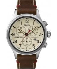 Timex TW4B04300 メンズ遠征スカウトブラウンレザークロノグラフウォッチ