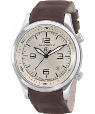Elliot Brown 202-003-L08 メンズcanfordチョコレートブラウンレザーストラップの腕時計