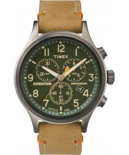 Timex TW4B04400 メンズ遠征スカウト日焼けレザークロノグラフウォッチ