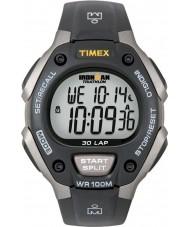 Timex T5E901 ブラックアイアンマン30ラップフルサイズのスポーツウォッチ
