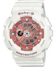 Casio BA-110-7A1ER レディースベビーグラムのワールドタイム白色樹脂ストラップ時計