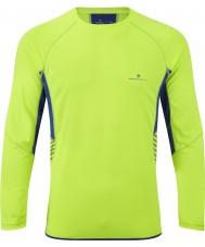 Ronhill RH00277-00038-XL メンズビジョンフルオ黄色コバルト長袖クルー - サイズXL