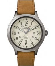 Timex TW4B06500 メンズ遠征スカウト日焼けレザーストラップの腕時計