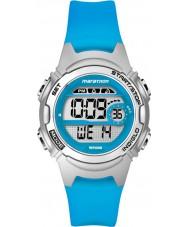 Timex TW5K96900 レディースマラソンミッドサイズブルー樹脂ストラップクロノグラフウォッチ