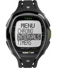 Timex TW5K96400 アイアンマン150ラップフルサイズなめらかな黒色樹脂ストラップクロノグラフウォッチ