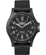 Timex TW4B08100 メンズ遠征黒ファブリックストラップの時計